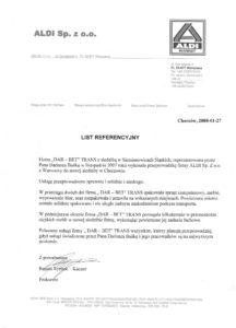 DAR-BET referencje przeprowadzki ALDI
